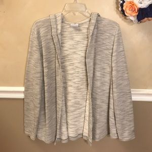 Columbia heathered open front cardigan sweater